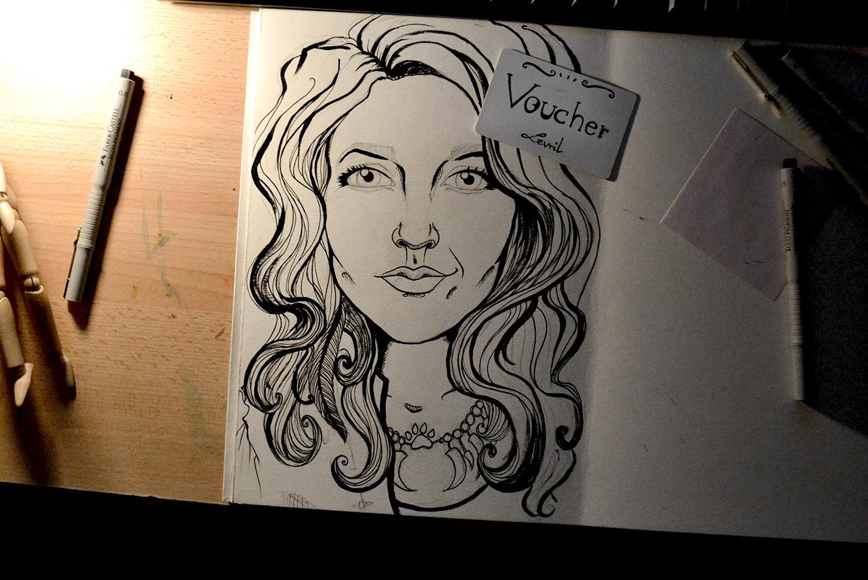 Magda photo sketch